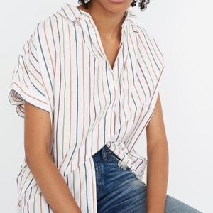 Madewell Central Shirt in Sadie Stripe Size Medium